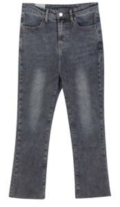 Light Flared denim PT♥ Fleece-lined