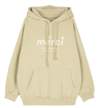 Mercy brushed hooded sweatshirt