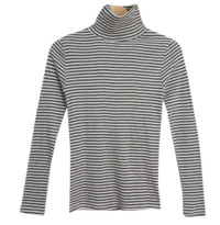Turtleneck T-shirt gave Striped Tea