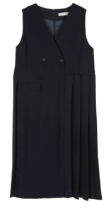 Molly double pleated midi dress