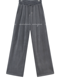 Drawstring Waist Straight Wide Leg Pants