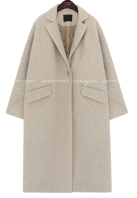 MELISA BOKASHI ONE BUTTON COAT