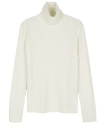 Cream Puff Basic Turtleneck Top