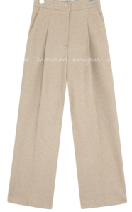 ROFT BANDING PINTUCK WIDE SLACKS