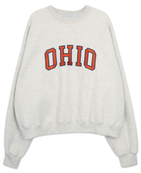 'OHIO' embroidery sweat shirt