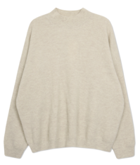 《Planned Product》 Pine Wool Cashmere Loose Fit Half Polar Knit