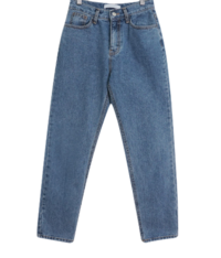 Story date brushed denim pants