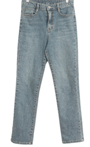 Koun slim Fleece-lined denim pants
