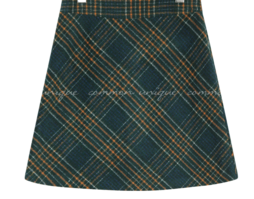 SOPHIA WOOL CHECK A LINE MINI SKIRT
