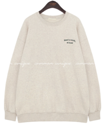Balloon Sleeve Lettering Detail Sweatshirt
