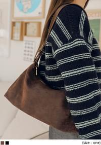 Faux Suede Shoulder Bag