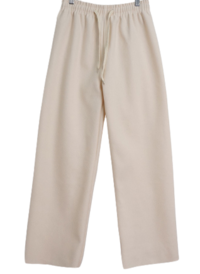 Wool banded straight trousers