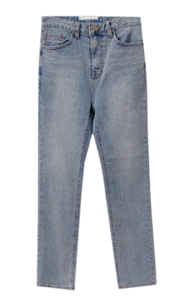 Moer Faded Date Fleece-lined Denim
