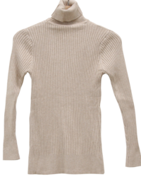 Mono ribbed neck polar knit