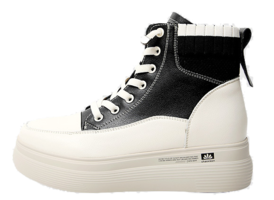 Liez leather high-top sneakers 5cm