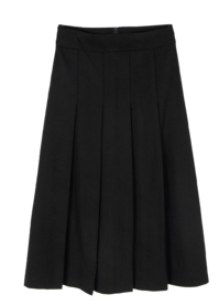 Tood wool pleated midi skirt