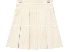 Box Pleat Corduroy Mini Skirt