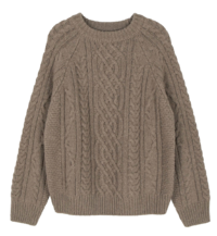 Star Cable Wool Crew Neck Knit