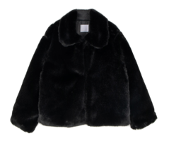 Marie collar fur jacket