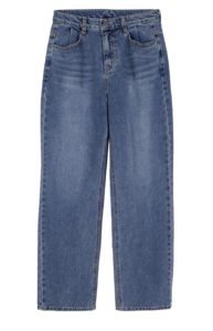Solid straight jeans