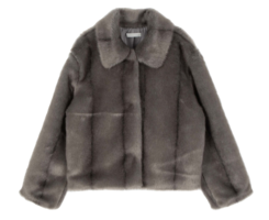 Airy animal fur jacket