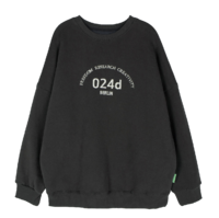 Tupo embroidered Fleece-lined crew neck sweatshirt 長袖上衣