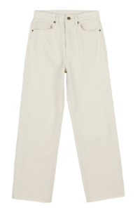 BB Fleece-lined straight cotton trousers