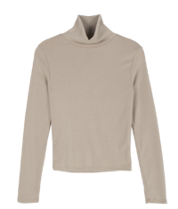 Line short turtleneck top