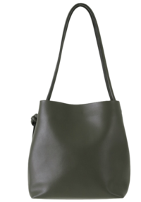 Tie-up square big shoulder bag