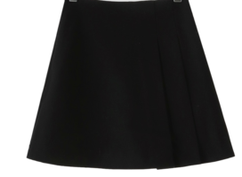 Unfoot pleated wool mini skirt