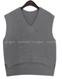 High-Low Hem Knit Vest