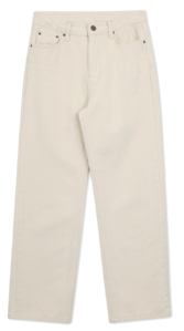 Cream Jean Straight Pants