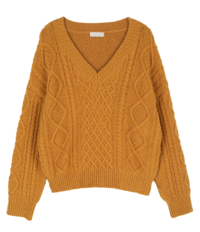 Henry Wool Cable V-Neck Knit