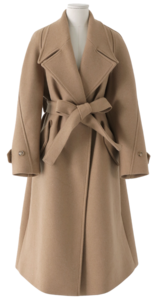 Blended Open Belted Wool Coat