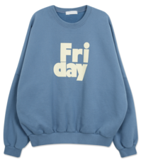 'FRIDAY' printing Sweatshirt