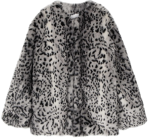 Lighter leopard fur coat