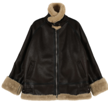 Punk shearling mustang jacket