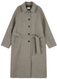 Standy single button long coat