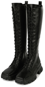 Blank lace-up long walker boots