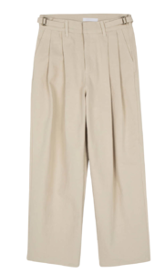 Jackson cotton pintuck wide trousers