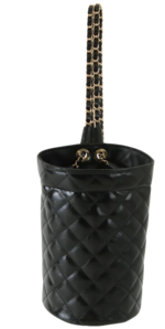 Glossy Quilted Chain Sling Backpack