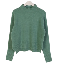 Half-neck color knit