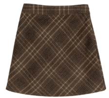 Welsh check mini skirt