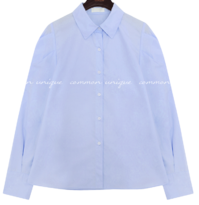 Puffed Sleeve Button-Down Blouse
