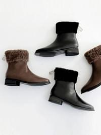 Presence leather ankle boots 3cm