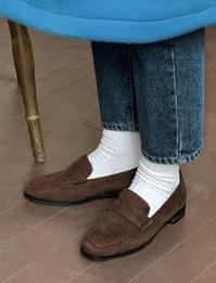 Cozy suede penny loafers