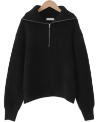 Paige Wool Half Zip Up Knit