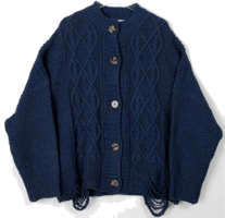 Damage Bono Knit Cardigan
