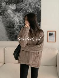 Muse cable cardigan