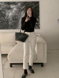 Center Fleece-lined Flared trousers